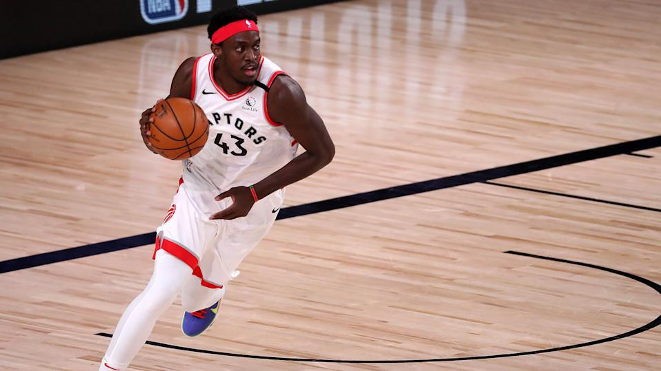 Toronto Raptors forward Pascal Siakam reflected on his own disappointment about his performance during the 2019-20 NBA playoffs. (Michael Reaves/Getty Images)