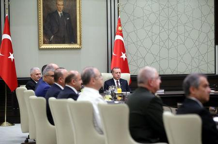 Turkish President Erdogan chairs a National Security Council meeting in Ankara