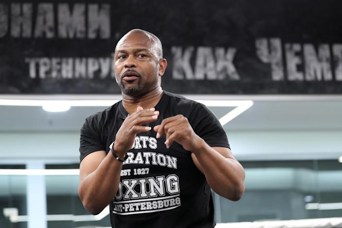 Roy Jones Jr. is readying for his bout against Tyson. (Photo by Peter Kovalev\TASS via Getty Images)