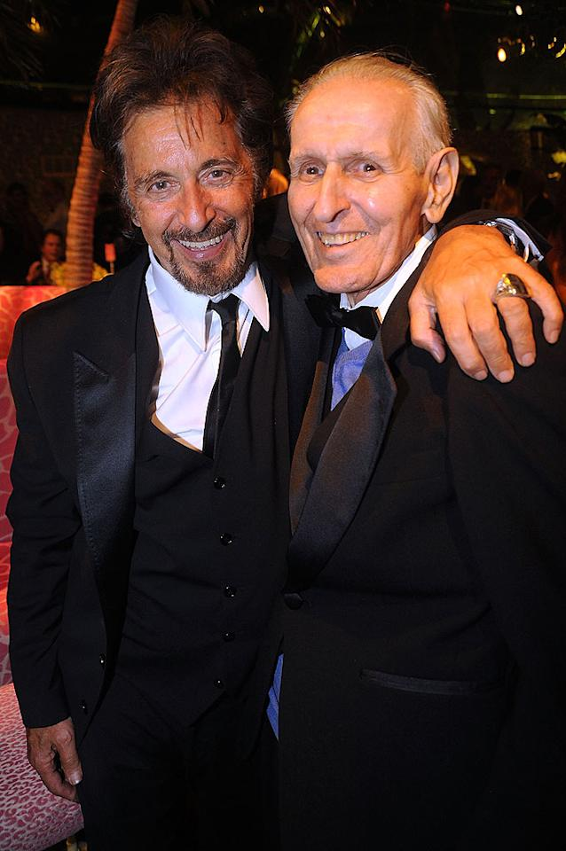 "Al Pacino and his on-screen alter-ego, Dr. Jack Kevorkian, celebrated the actor's Emmy win for Outstanding Lead Actor in a Miniseries or Movie for HBO's ""You Don't Know Jack."" Jeff Kravitz/<a href=""http://www.filmmagic.com/"" target=""new"">FilmMagic.com</a> - August 29, 2010"