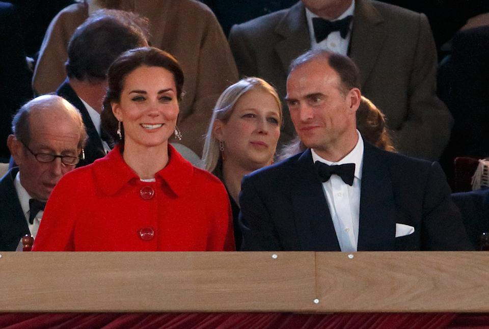 The Duchess of Cambridge and Donatus, Prince and Landgrave of Hesse sit together
