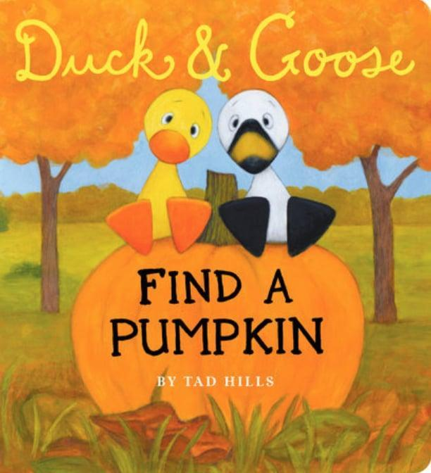 """<p>With simple text and bright, colorful illustrations, <span><strong>Duck & Goose Find a Pumpkin</strong></span> ($7, originally $8) takes little ones on an adventure as Duck and Goose search for the perfect <a class=""""link rapid-noclick-resp"""" href=""""https://www.popsugar.com/Halloween"""" rel=""""nofollow noopener"""" target=""""_blank"""" data-ylk=""""slk:Halloween"""">Halloween</a> pumpkin.</p>"""