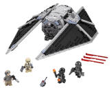 <p>This iteration of the Empire's TIE force is designed for missions in atmosphere, not space. The ship features adjustable wings and comes with a pilot, Shoretrooper, and ground crew (is that the same outfit Jyn is wearing in the first teaser?). You almost feel sorry for that Rebel trooper minifig. ($69.99)</p>