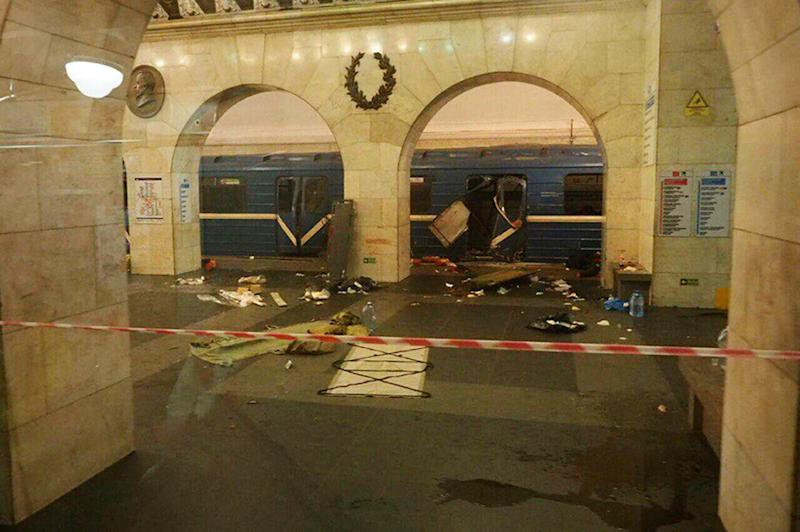 Russia St. Petersburg Explosion Metro Subway Train