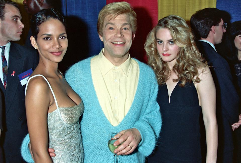 Halle Berry, Al Franken and Alicia Silverstone during 1995 ShoWest in Las Vegas, Nevada, United States. (Photo by Jeff Kravitz/FilmMagic, Inc)