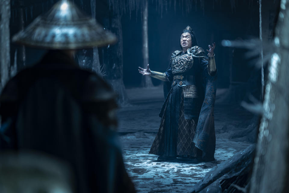 Chin Han is the sorcerer villain Shang Tsung in Mortal Kombat. (Still: Warner Bros.)