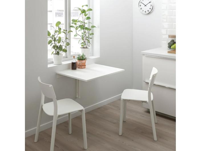 This compact desk is ideal if you plan on working in the kitchenIkea