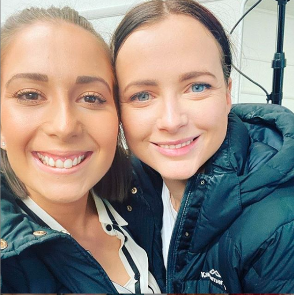Selfie of MasterChef's Laura Sharrad and Emilia Jackson