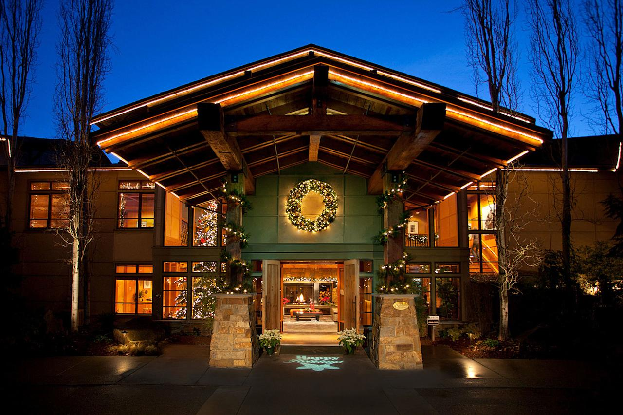 "<ul><li><em>From $269, <a rel=""nofollow"" href=""https://www.willowslodge.com/"">willowslodge.com</a></em></li> </ul><p>Winter weather in Washington might be frightful, but a stay at Willows Lodge will make it delightful. 30 minutes north of Seattle, Woodinville gets most of its traffic during the summer months, but proves a perfect hideaway for a quiet winter escape, even in the rain and snow. With the setting's small-town charm, farm-fresh eats, and over 100 wineries and tasting rooms, you'll have no trouble settling in. Guests at Woodinville's cozy Willows Lodge can expect accommodations with all the trimmings, seasonal holiday menus at the acclaimed Barking Frog restaurant, and off-season rates. Plus, the tasting rooms in town are just a short walk or shuttle ride away, guaranteeing that no matter the weather, you'll be merry and bright.</p>"