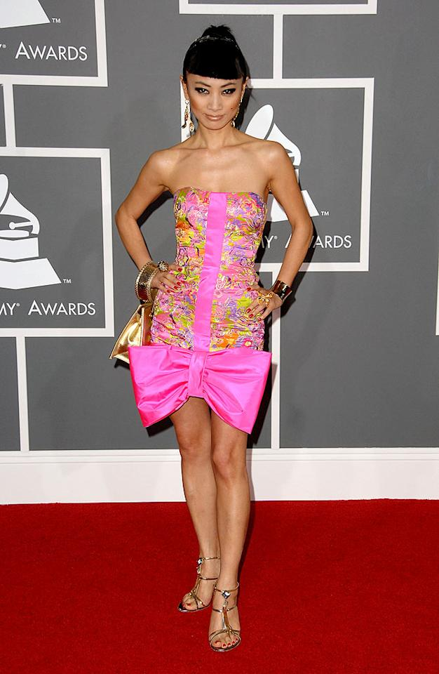"""Bad: Bai Ling caused multiple cases of nausea upon arriving in this Pepto-Bismol-pink prom bomb. Steve Granitz/<a href=""""http://www.wireimage.com"""" target=""""new"""">WireImage.com</a> - February 8, 2009"""