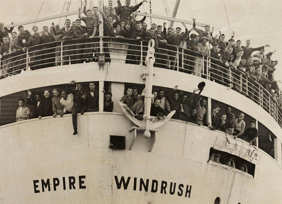 The 'Empire Windrush' arriving from Jamaica, 1948 (Daily Herald Archive/SSPL via Getty Images)