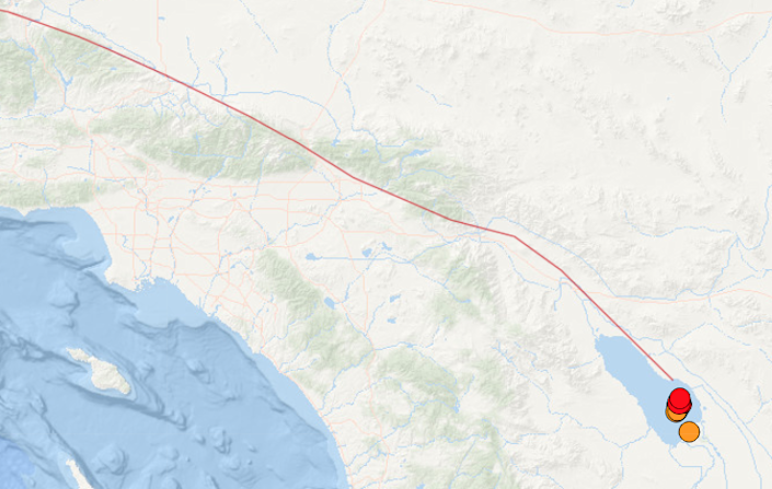 Earthquakes as large as magnitude 4.6 under the Salton Sea are raising concern that a larger earthquake could be unleashed on the San Andreas fault, the southernmost section of which has not ruptured since about 1680.