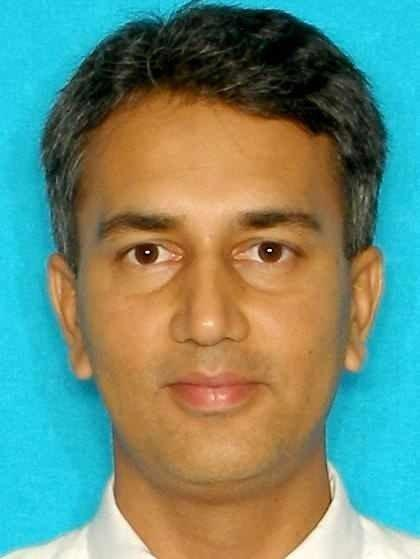 Shafeeq Sheikh in a booking photo from the Houston Police Department.
