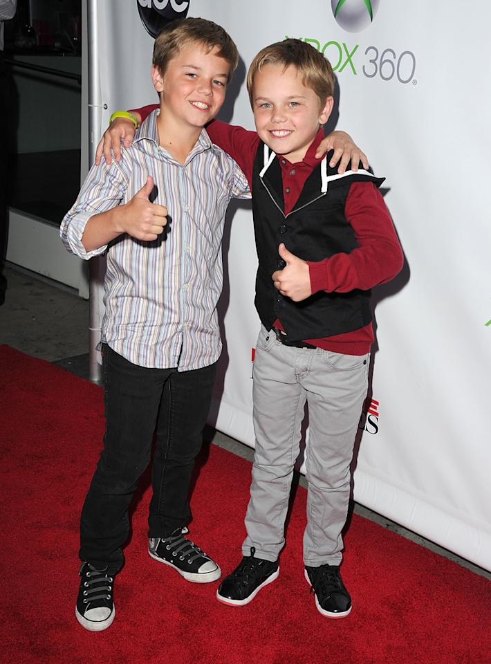 """Brent Kinsman and Shane Kinsman attend the """"<a target=""""_blank"""" href=""""http://tv.yahoo.com/desperate-housewives/show/36265"""">Desperate Housewives</a>"""" Series Finale Party at the W Hollywood on April 29, 2012 in Hollywood, California."""