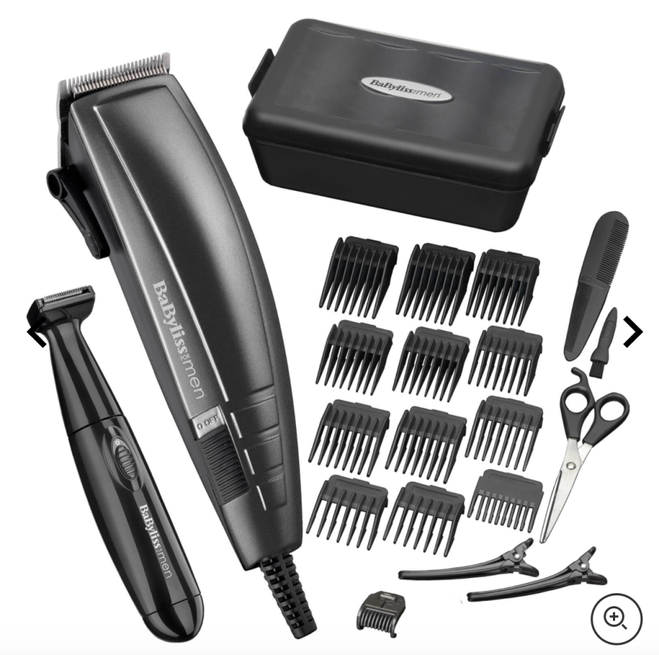 BaByliss for men 22 piece home haircutting kit, S$44. PHOTO: Lookfantastic