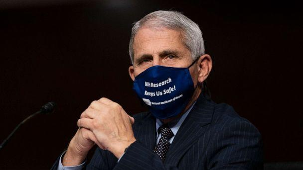 PHOTO: Dr. Anthony Fauci, director of the National Institute of Allergy and Infectious Diseases, testifies at a hearing of the Senate Health, Education, Labor and Pensions Committee on Sept. 23, 2020, in Washington. (Pool/Getty Images)