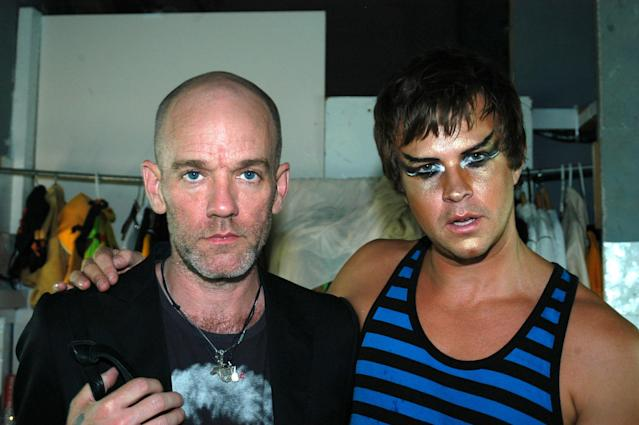 Michael Stipe and Casey Spooner in 2005. (Photo: Victor Spinelli/WireImage)