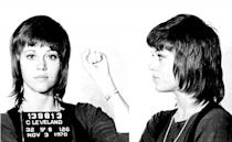 """Jane Fonda """"Hanoi Jane"""" was arrested in 1970 for federal drug smuggling charges at Cleveland airport."""