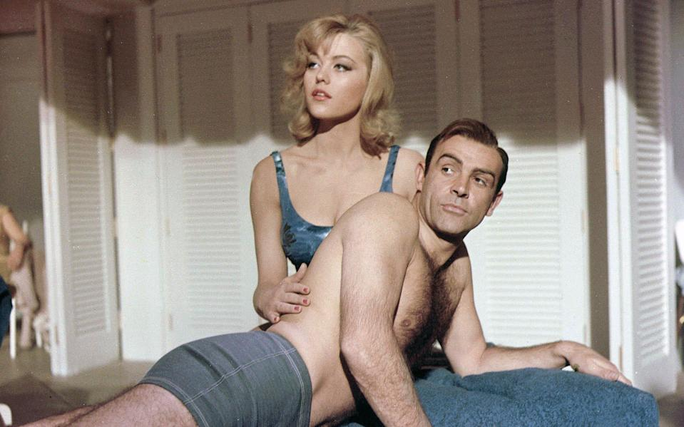 Margaret Nolan gets to grips with Sean Connery in Goldfinger - Danjaq/Eon/Ua/Kobal/Shutterstock