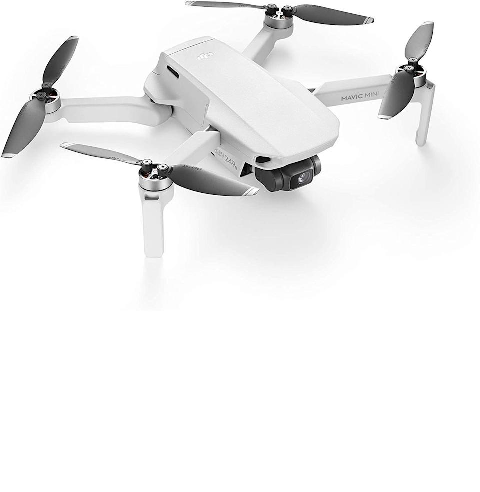 """<p><strong>DJI</strong></p><p>amazon.com</p><p><strong>$399.00</strong></p><p><a href=""""https://www.amazon.com/dp/B07RKPP1YL?tag=syn-yahoo-20&ascsubtag=%5Bartid%7C10054.g.34313481%5Bsrc%7Cyahoo-us"""" rel=""""nofollow noopener"""" target=""""_blank"""" data-ylk=""""slk:Buy"""" class=""""link rapid-noclick-resp"""">Buy</a></p><p><strong><del>$499.00</del> (20% off)</strong><br><br>Try naming a better time to really get into drone photography. You can't.</p>"""