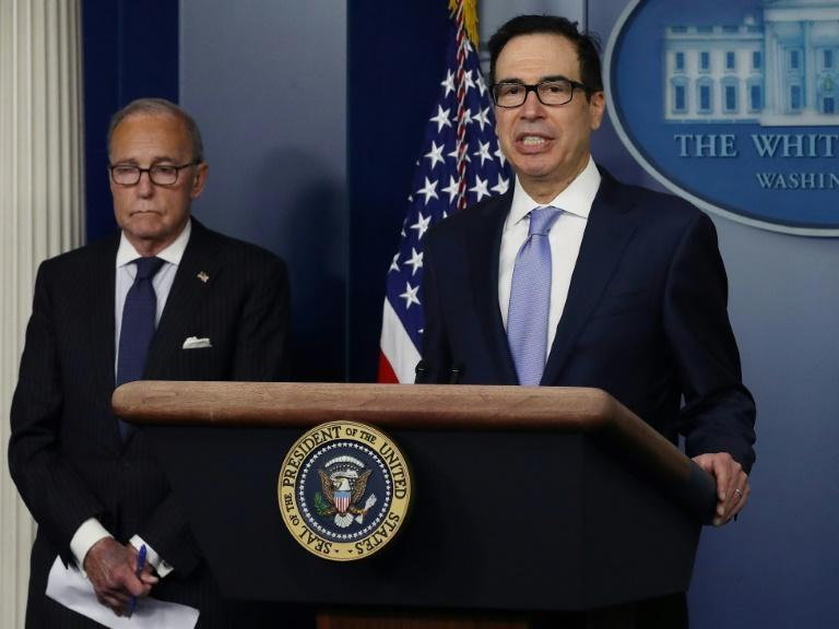 US Treasury Secretary Steven Mnuchin has touted the Paycheck Protection Program as a succcess despite questions over whether many recipients should have received funds (AFP Photo/CHIP SOMODEVILLA)