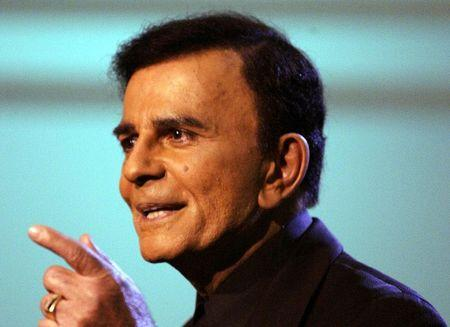 "File of US television and radio personality Casey Kasem appears on the ""American Top 40 Live"" show in Los Angeles."