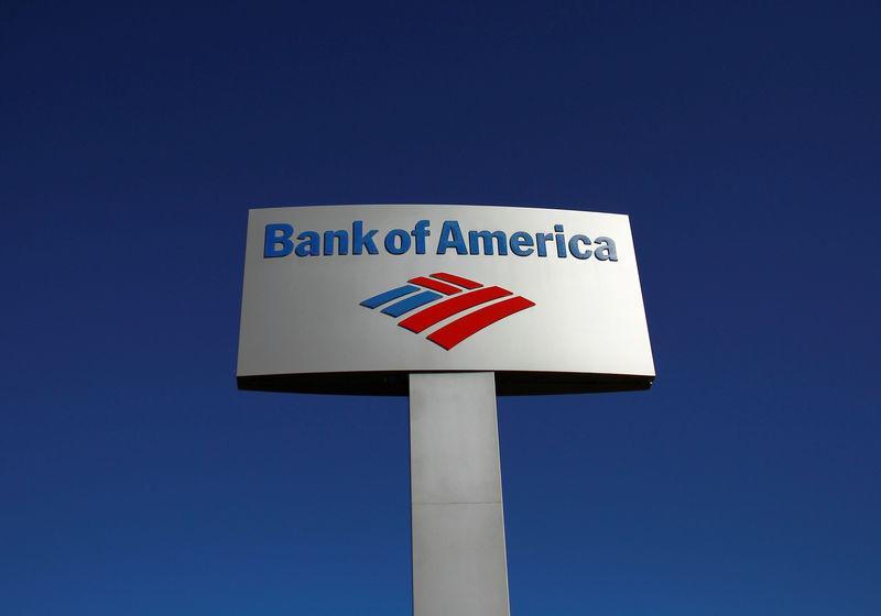 FILE PHOTO: A Bank of America sign is displayed outside a branch in Tucson, Arizona