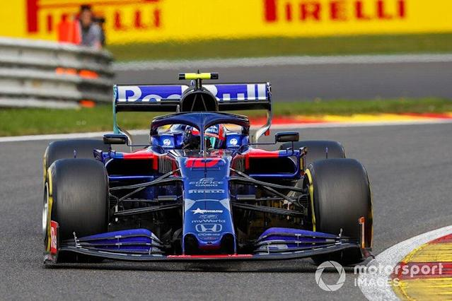 """Pierre Gasly, Toro Rosso STR14 <span class=""""copyright"""">Zak Mauger / LAT Images</span>"""