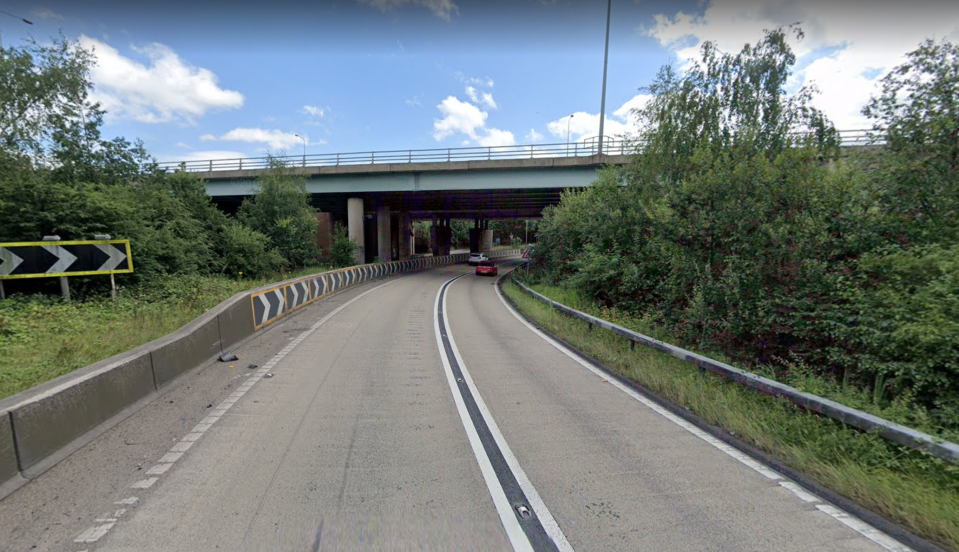 Ten vehicles crashed on the clockwise carriageway by junction four of the M60.