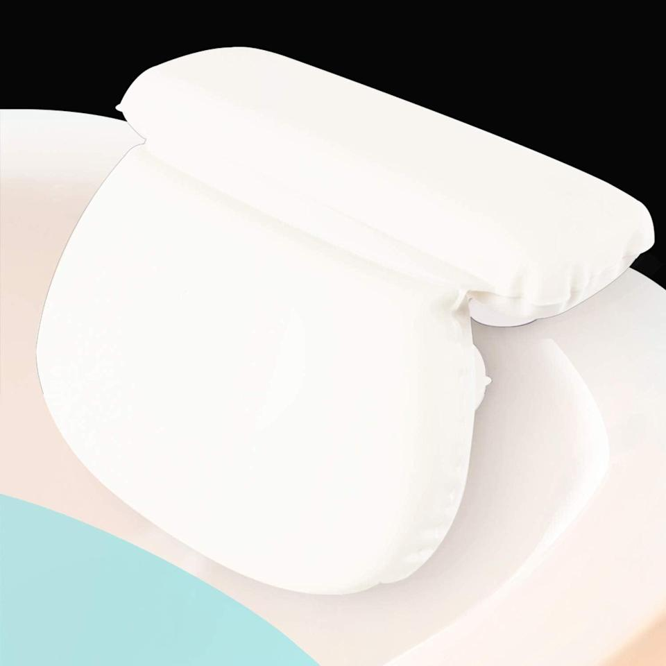 <p>Rest your head on this <span>Xtra-Comfort Bath Pillow</span> ($15), and watch your bath time get a hundred times better.</p>