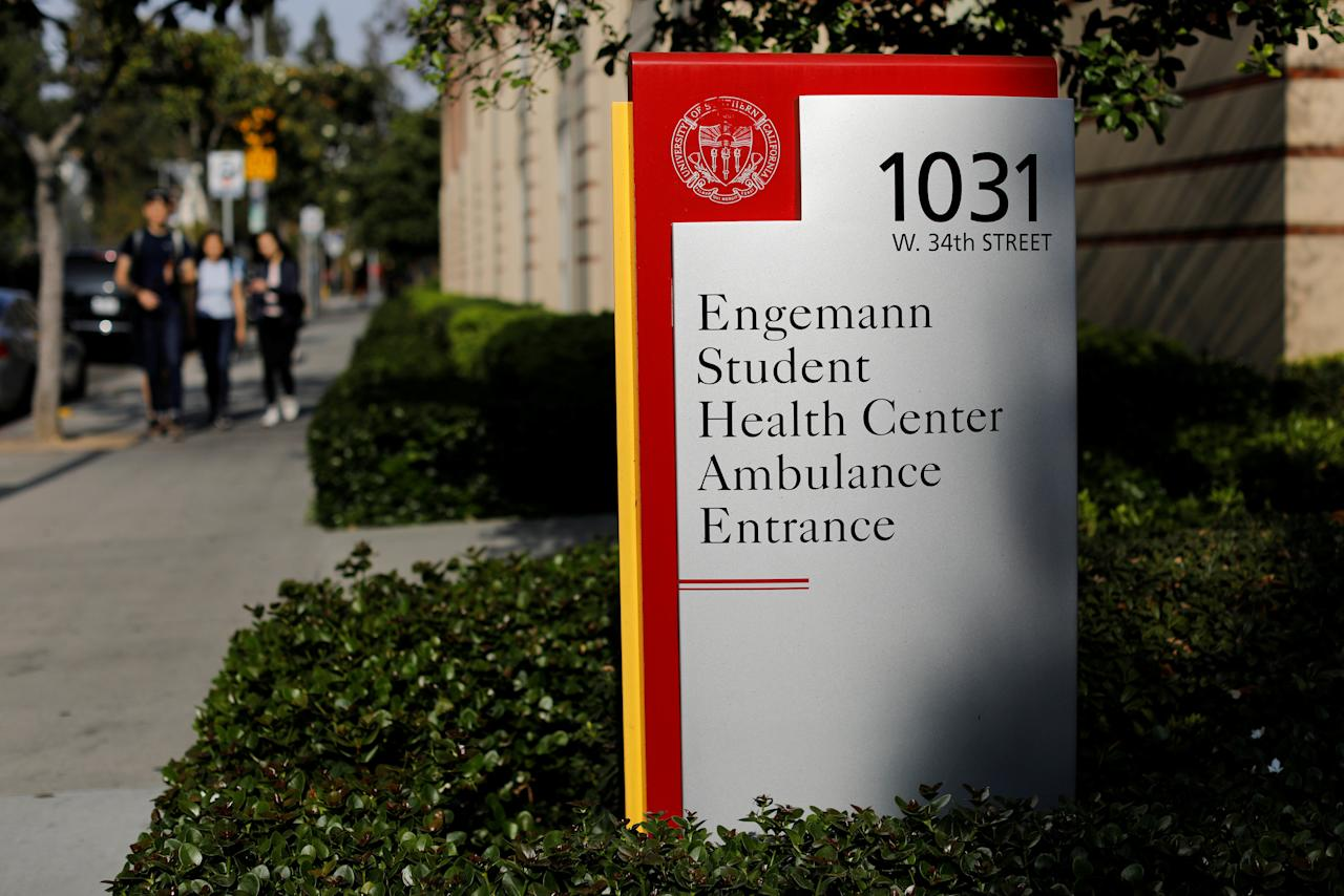 FILE PHOTO: The Engemann Student Health Center is shown at the University of Southern California in Los Angeles, California, U.S., May 22, 2018.  REUTERS/Mike Blake/File Photo