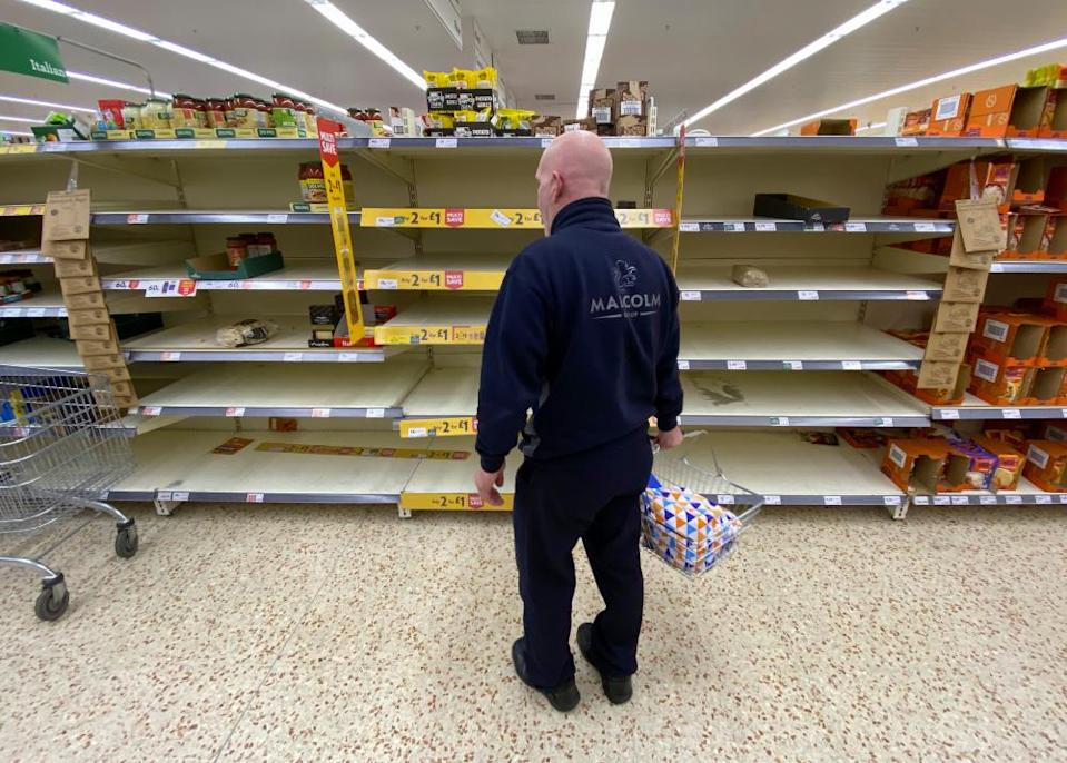 In common with the other large supermarket chains, Morrisons has been struggling with stocks as shoppers panic-buy.