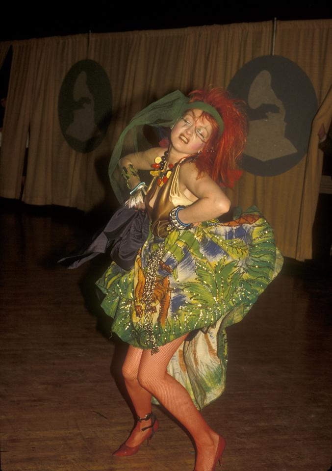 Cyndi Lauper at the Grammys in Los Angeles, California on February 28, 1984 (Photo by Barry King/WireImage)