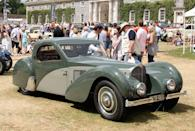 <p>Shortly before World War II reached a fever pitch, French maker Bugatti enjoyed considerable recognition for its gorgeous Type 57. A total of 710 were ultimately produced.</p>