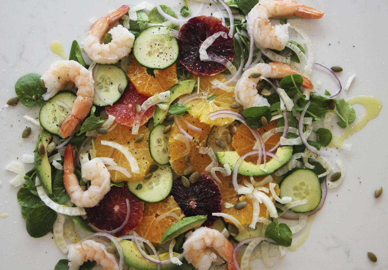 <p>Opting for a salad in a restaurant doesn't necessarily equal healthy. The calorie count can often be more than a meat alternative thanks to giant-sized portions. Sodium levels can also be high. To ensure a truly healthy salad, leave out the heavy dressings and watch your portion size.<br /><i>[Photo: AP]</i> </p>