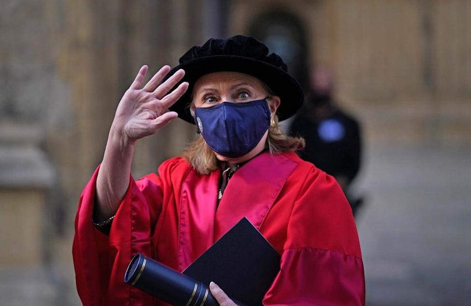 Former US secretary of state Hillary Clinton has received an honorary degree from Oxford University (Steve Parsons/PA) (PA Wire)