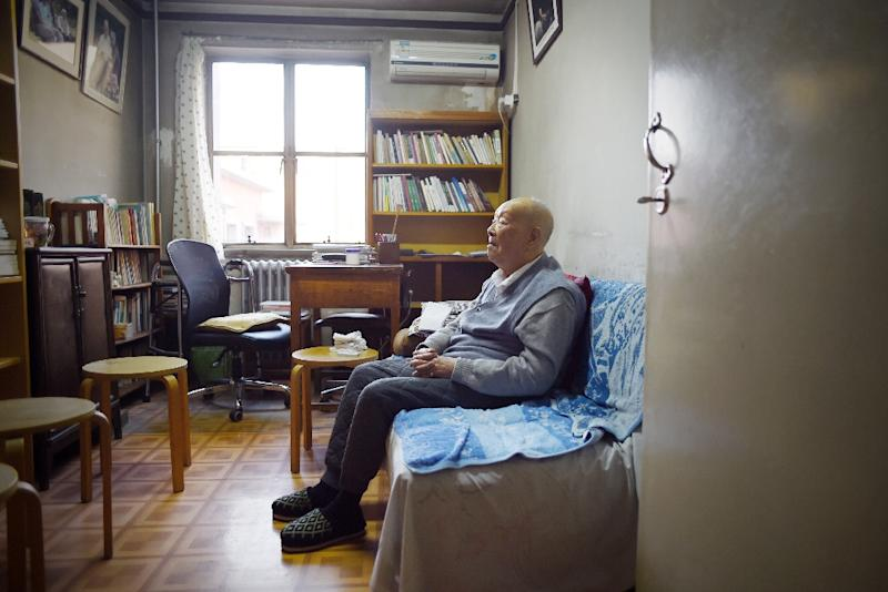 Zhou Youguang, who was probably China's oldest dissenter, died on January 14, 2017, at his house in Beijing, a day after having celebrated his 111th birthday (AFP Photo/WANG ZHAO)