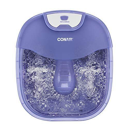 """<p><strong>Conair</strong></p><p>amazon.com</p><p><strong>$49.99</strong></p><p><a href=""""https://www.amazon.com/dp/B07HSFNBKF?tag=syn-yahoo-20&ascsubtag=%5Bartid%7C2141.g.36755089%5Bsrc%7Cyahoo-us"""" rel=""""nofollow noopener"""" target=""""_blank"""" data-ylk=""""slk:Shop Now"""" class=""""link rapid-noclick-resp"""">Shop Now</a></p><p>It's not hard to recreate a spa-like experience at home, especially with the help of a heated foot spa like this one. Featuring two foot massage rollers, a toe-touch button, and a special heating element that can <strong>warm up the water up to 104 degrees Fahrenheit</strong>—this pedicure spa is perfect for those with achy and tired feet. Bonus: It comes with pumice and nail brush accessories to help elevate your experience.</p>"""