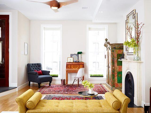 """<p>""""We create one-of-a-kind interiors for a life lived more colorfully, more beautifully, more joyfully."""" That's the motto at Right-Meets-Left Interior Design, the brainchild (from <em>both</em> sides of the brain, which every good designer knows are equally important) of Courtney McLeod. The New York-based talent has a knack for mixing modern masterpieces, like the iconic Eames lounge, with bold, colorful art, wallpaper, or accents, for interiors that are serious but livable. </p><p><a href=""""https://www.instagram.com/p/BbEvle5ltgA/?utm_source=ig_embed&utm_medium=loading"""" rel=""""nofollow noopener"""" target=""""_blank"""" data-ylk=""""slk:See the original post on Instagram"""" class=""""link rapid-noclick-resp"""">See the original post on Instagram</a></p>"""