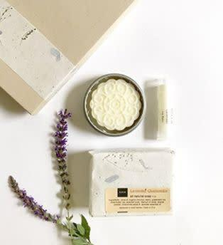 """This Indiana-based Amazon Handmade shop specializes in chemical-free skin care and spa products. Find this <a href=""""https://amzn.to/31unVPG"""" rel=""""nofollow noopener"""" target=""""_blank"""" data-ylk=""""slk:natural handmade bath and body gift set"""" class=""""link rapid-noclick-resp"""">natural handmade bath and body gift set</a> for $23."""