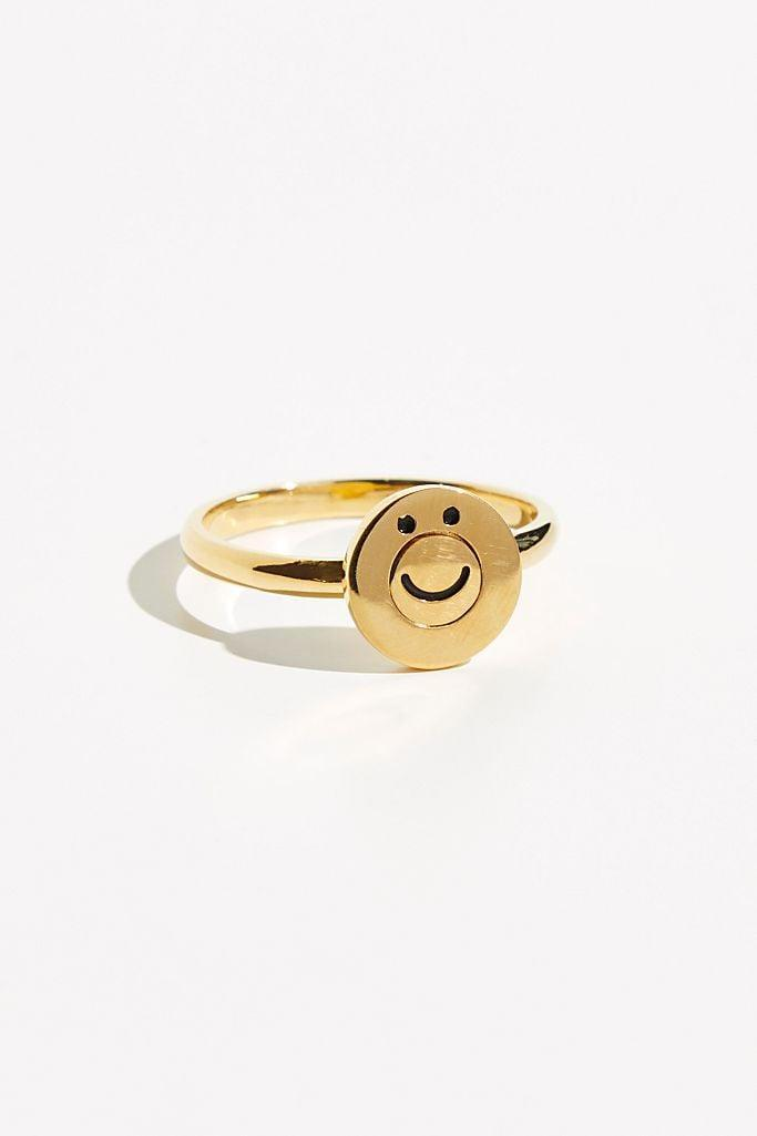 <p>If you find your mood to be up and down, this <span>Merewif Happysad Ring</span> ($90) is a fun way to let others know what mood you're claiming. I like to spin it to the happy side on difficult days to inspire joy. </p>
