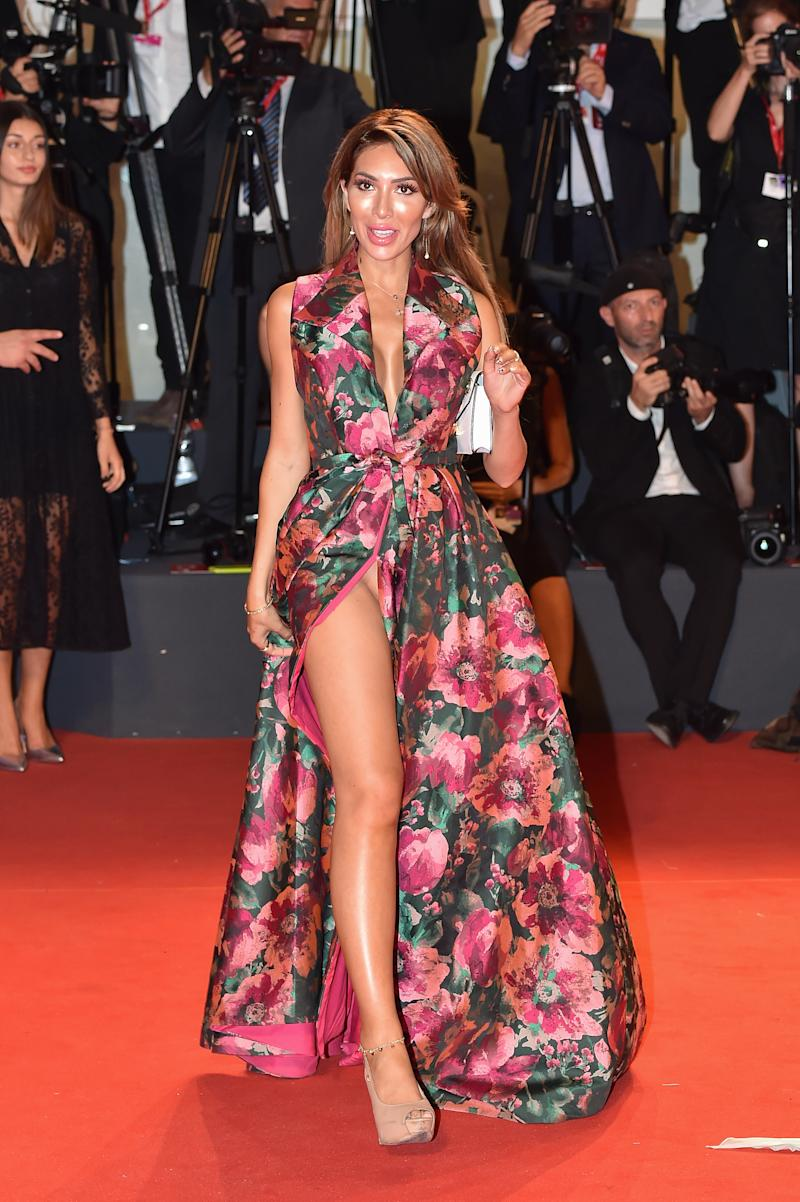 """VENICE, ITALY - AUGUST 29: Farrah Abraham walks the red carpet ahead of the """"Ad Astra"""" screening during during the 76th Venice Film Festival at Sala Grande on August 29, 2019 in Venice, Italy. (Photo by Dominique Charriau/WireImage)"""