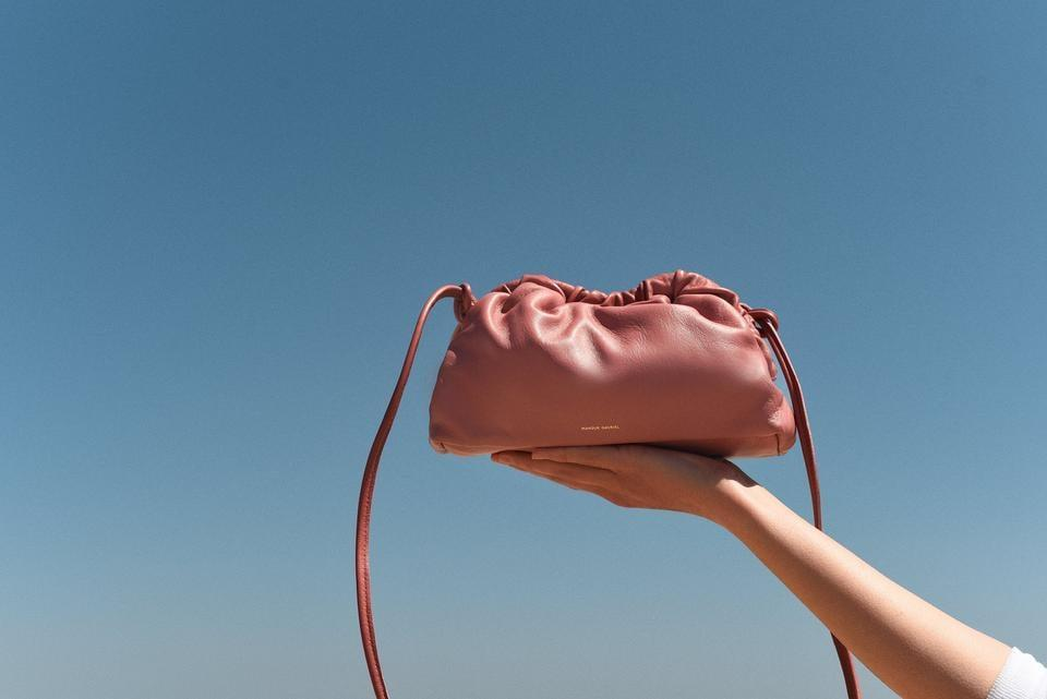 <p>There's no denying that this <span>Mansur Gavriel Mini Cloud Clutch</span> ($495) is stylish, but I love the crossbody strap that you can adjust to your preferred length.</p>