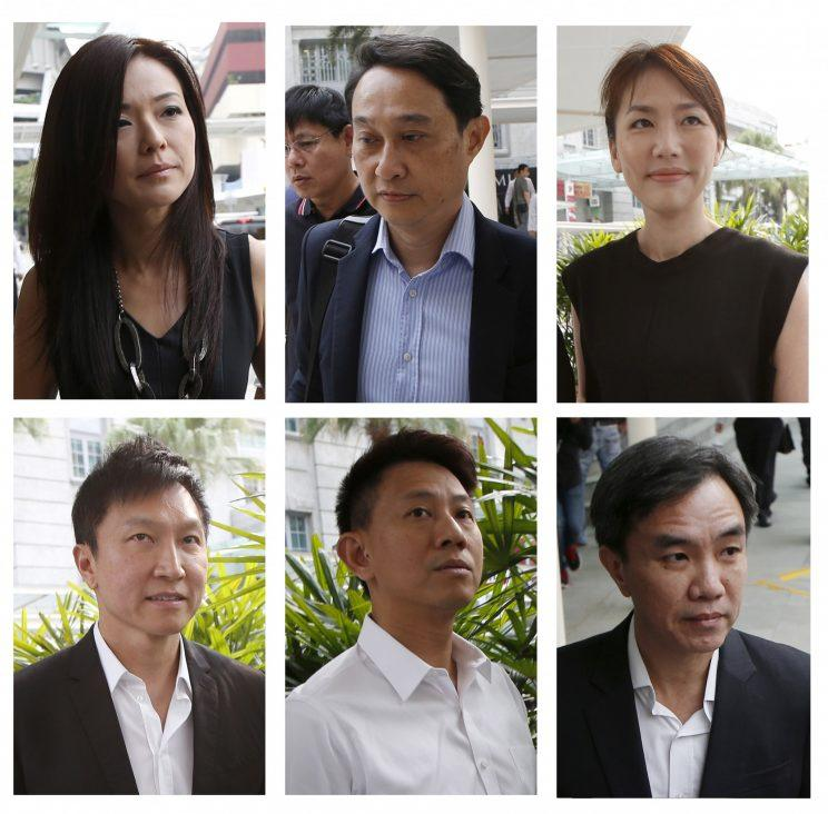 Combination photo shows City Harvest Church's leaders (File photo: Reuters)