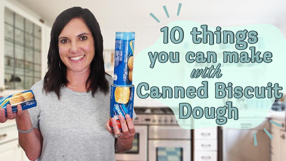 """<p>What's the easiest ways to make your own melt-in-your-mouth, pillowy soft garlic knots? A supermarket shortcut. By utilizing <a href=""""https://www.myrecipes.com/community/10-ways-to-use-canned-biscuit-dough-with-nicole"""" rel=""""nofollow noopener"""" target=""""_blank"""" data-ylk=""""slk:canned biscuit dough"""" class=""""link rapid-noclick-resp"""">canned biscuit dough</a>, you'll have super simple and delectable garlic knots in 30 minutes.</p>"""