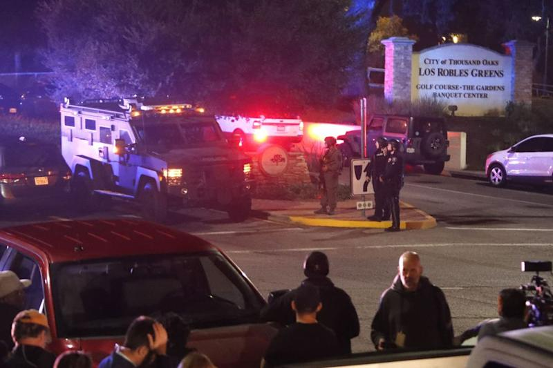 The scene at a bar in Thousand Oaks, California, where a gunman opened fire Wednesday night