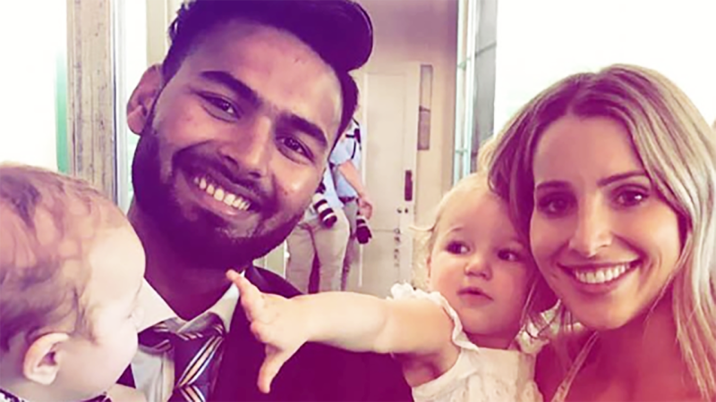 Rishabh Pant with Bonnie Paine, pictured here in 2018.