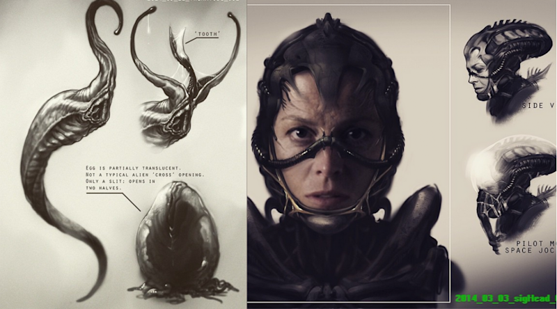 Neill Blomkamp's 'Alien' sequel concept art (Credit: Neill Blomkamp/20th Century Fox)