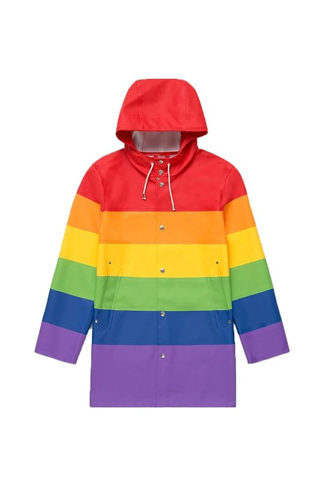 "<p>Stutterheim, £260</p><p> <a class=""body-btn-link"" href=""https://stutterheim.com/uk/all-raincoats/vladimir-rainbow"" target=""_blank"">SHOP NOW</a> </p>"