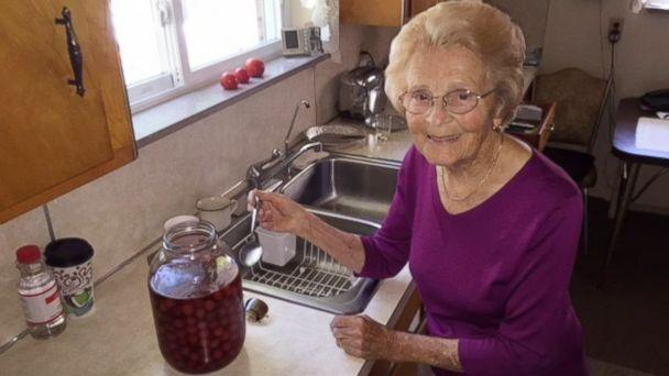 PHOTO: The cherry-infused vodka Hedy Steinbart, 92, made for her family for decades is now on the market. (Courtesy Kyle Miller )